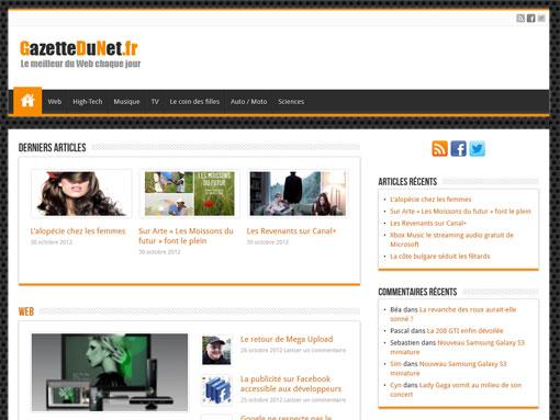 page d'accueil du site gazettedunet.fr